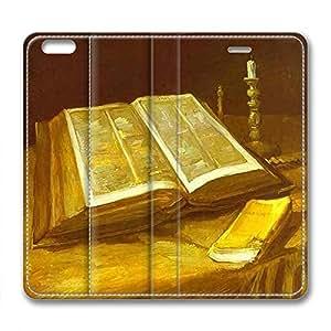 DIY Vincent Van Gogh Design Leather Case for Iphone 6 Plus Reading Book