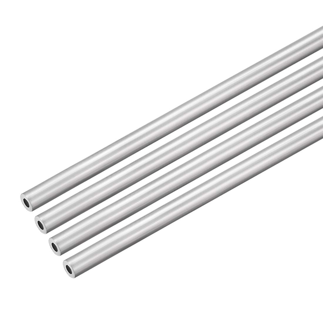 uxcell 4Pcs 6063 Seamless Aluminum Round Straight Tubing Tube 1 Feet Length 0.117 Inches ID 0.195 Inches OD
