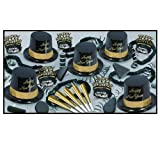 Gold Legacy - Illusion Black and Gold Party Assortment for 100 Pkg/1