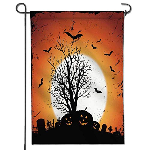 Jiahonghome Seasonal Garden Flag Jack O' Lantern of Pumpkins for Halloween Holidays Double Sided Weatherproof Flags24 x 36