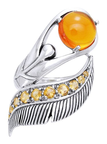 Dancing Lotus Sterling Silver & Gemstone Ring
