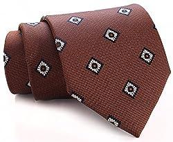 Mufall Men's Floral Tie Brown