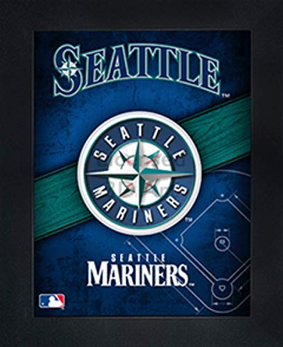 (Seattle Mariners 3D Poster Wall Art Decor Framed | 14.5x18.5"