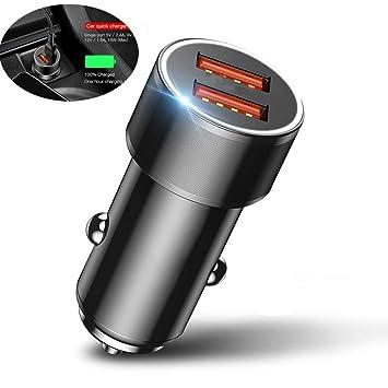 XIAOSD Cargador De Coche PequeñO Tornillo Dual USB Flash ...