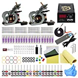 Wormhole Tattoo Complete Tattoo Kit for Beginners Tattoo Power Supply Kit 20 Tattoo Inks 20 Tattoo Needles 2 Pro Tattoo Machine Kit Tattoo Supplies TK1000032