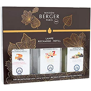 Lampe Berger Fragrance Trio Refill for Home Fragrance Oil Diffuser - 3x6.08 Fluid Ounces - 3x180 milliliters (Trio Autumn)