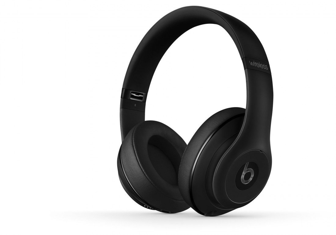 Studio2.0 Wireless Bluetooth Over-Ear Headphones Matte Black Multiple Noise Isolating