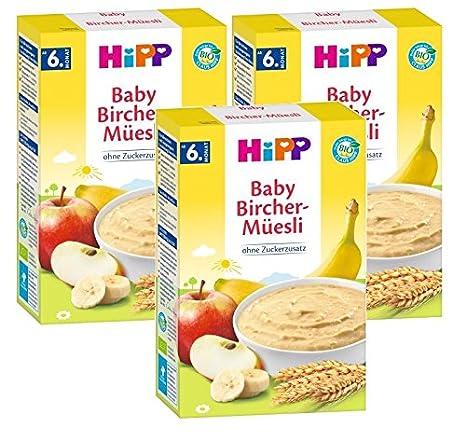 Hipp Bio Getreide Brei Guten Morgen Brei Bircher Müesli 3er