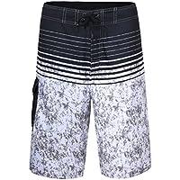 nonwe rayas de colores de los hombres Quick Dry Natación para Hombre Playa Pantalones Cortos con Forro de malla