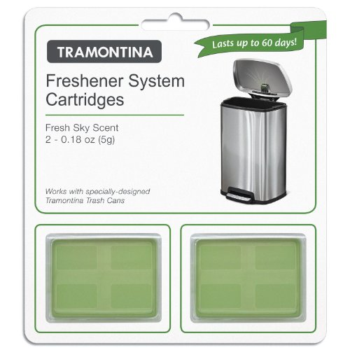 2 pk Tramontina Freshener System Cartidges Fresh Sky Scent - Last up to 60 Days (Tramontina Step Trash Can compare prices)