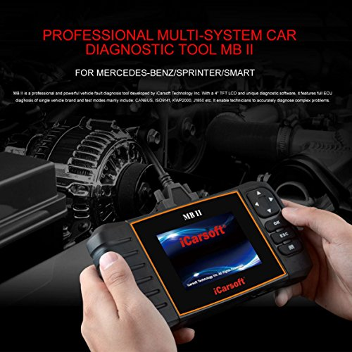 iCarsoft MBII for Mercedes Benz/Sprinter/Smart Professional Diagnostic Tool Scanner, New (Pre Owned Mercedes)