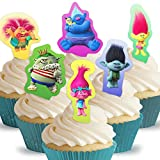 Cakeshop 12 x PRE-CUT Trolls Stand Up Edible Cake Toppers