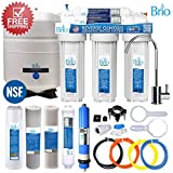 Five Stage Reverse Osmosis Filtration Systems for Water Dispensers, Water Coolers, and More (75 GPD, 10'' Standard Housings) by Brio & Magic Mountain