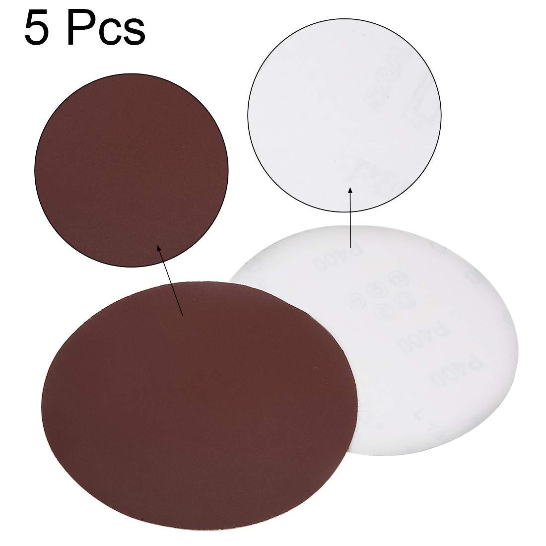 Surtido de discos de lija PSA de 6 pulgadas de Sourcing 80//100//120//180//240//400 hojas de lija de /óxido de aluminio para lijadora orbital