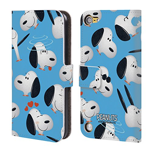 (Official Peanuts Snoopy Character Patterns Leather Book Wallet Case Cover for Touch 5th Gen/Touch 6th Gen)