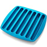 ice cube tube tray - Silicone Ice Cube Sticks Tray - Blue Color Stick Size Ice Tube Tray - Perfectly Shaped For Fitting In Water Bottles – Colorful. Flexible And Non-Stick – By Kitch N' Wares
