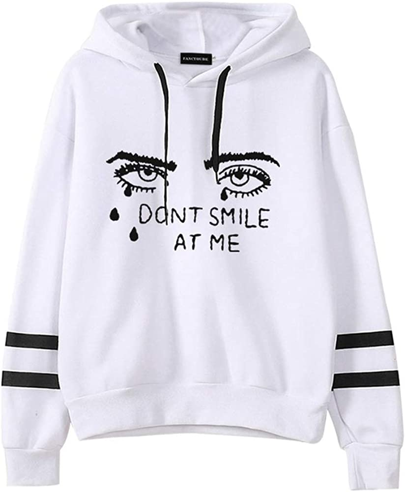 SANUME Unisex Billie Eilish Hoodie Billie Print Sweatshirt Pullover Tops