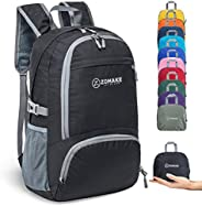 ZOMAKE 30L Lightweight Packable Backpack Water Resistant Hiking Daypack,Small Travel Backpack Foldable Camping