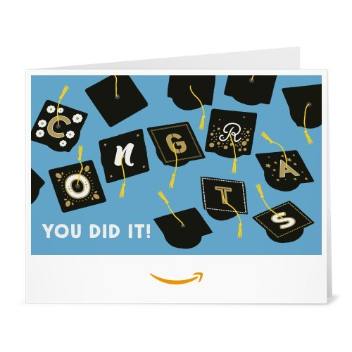 Amazon Gift Card - Print - Graduation Caps -