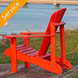 work resin table - Adirondack Chair Assembly - Single Chair + Ottoman