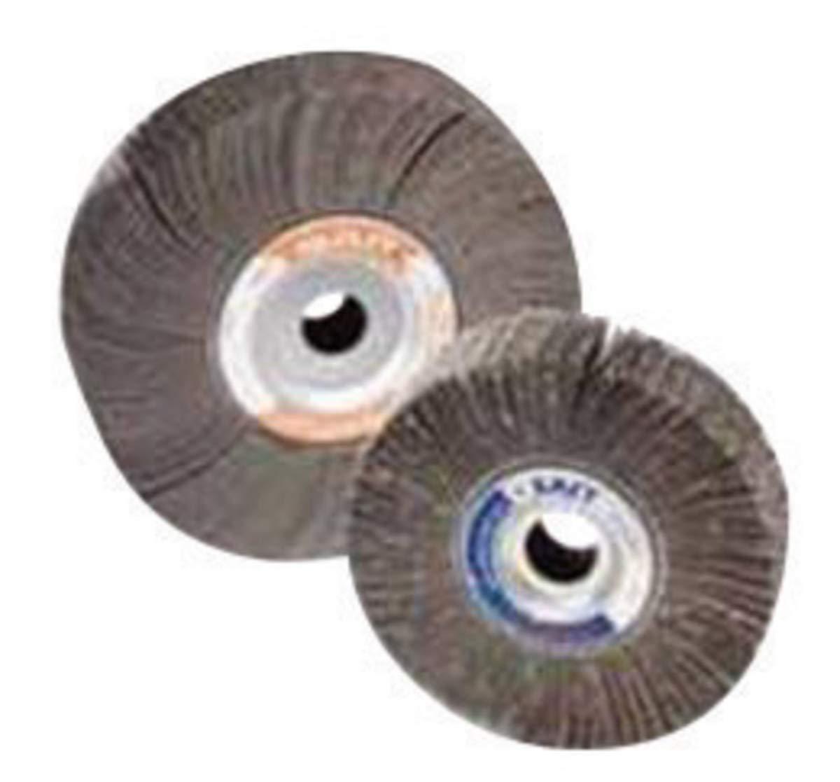 United Abrasives 6'' X 1'' X 1'' 80 Grit 3A Aluminum Oxide Coated Flap Wheel - 10 Each/Case