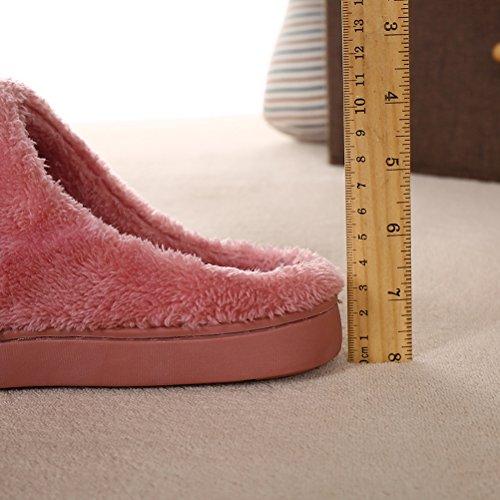 zealux cómodo–Zapatillas de casa de algodón y zapatillas de casa Zapatillas de ligera Anaranjado
