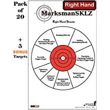 "Diagnostic And Training Pistol Shooting Targets (Pack Of 20 + 5 Bonus Drill Targets) | High Visibility 11"" X 17"" 