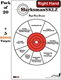 "Diagnostic And Training Pistol Shooting Targets (Pack Of 20 + 5 Bonus Drill Targets) | High Visibility 11""x17"" 