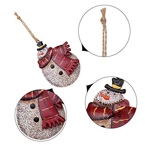 4 Piezas Adornos de /árbol de Navidad Colgante Santa Claus Mu/ñeco de Nieve Esta/ño Metal Decoraci/ón navide/ña