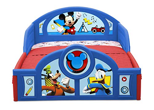 Disney Mickey Mouse Deluxe Toddler Bed with Attached Guardrails 2