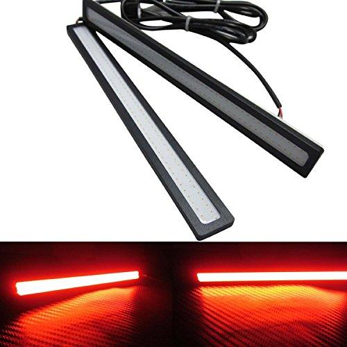 DELED® 2X6W Car LED DRL Daylight Super Kit 12V Head Lamp Daytime Running light (Red, Frame color:Black) FBA