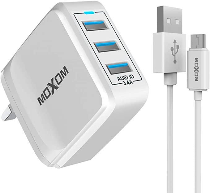 USB Wall Charger with Charging Cable
