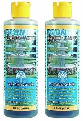2 x 8oz Bottles - EasyCare FounTec Algaecide and Clarifier