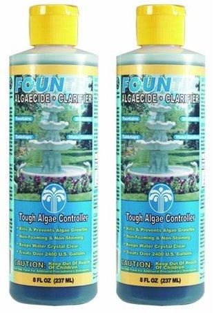 Fountec Algaecide (2 PACK - EasyCare FounTec Algaecide and Clarifier - 8 oz)