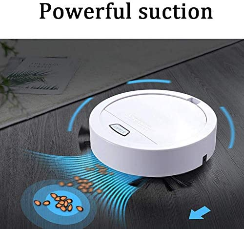 Thumby Aspirateur Robot et Cleaner Mop Ultra Strong Aspirateur Robot d\'aspiration 40dB Super Calme, idéal for Les Animaux Poil Dur Floors Mince Tapis jianyu