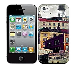 Best Power(Tm) HD Colorful Painted Watercolor High Rise Buildings Hard Phone Case For Iphone 5/5s