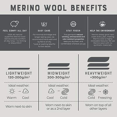MERIWOOL Womens Base Layer 100% Merino Wool Lightweight Form Fit Top Thermal Shirt at Women's Clothing store