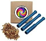 Pack of 3 - Reusable Cigarette Holder - Smoke Accessory Trendy Design (Blue) - 3