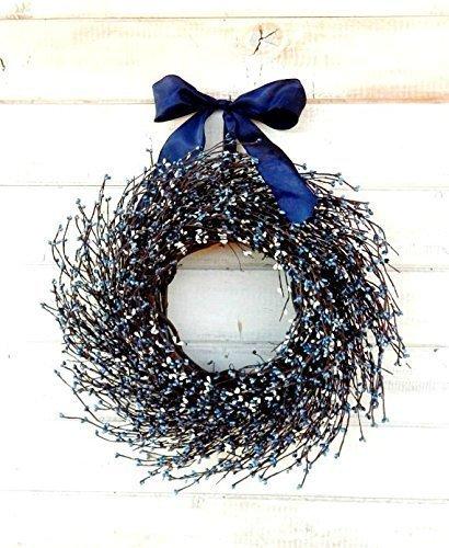 Fall Wreath, Winter Wreath, Spring Wreath, Summer Wreath-Summer Door Wreaths, Blue & White Wreath, Rustic Farmhouse Wreath, 4th of July Decor, Patriotic Door Wreath, Housewarming Gift, Christmas Gifts -