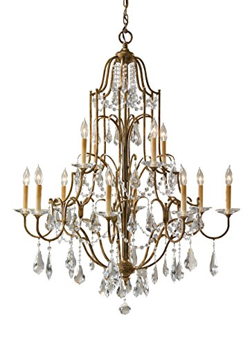 Light 2 Tier Crystal Chandelier - 3