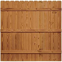 6 ft. x 6 ft. Pressure-Treated Dog Eared Cedar-Tone Moulded Privacy Fence Kit
