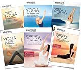 Element Yoga: Ultimate 6-DVD Collection - AM & PM Yoga for Beginners/ Yoga for Weight Loss/ Power Yoga/ Yoga for Energy & Relaxation/ Beginner Level Yoga/ Level Yoga for Toning, Stress Relief & Flexib