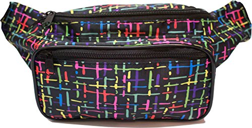 SoJourner Bags Fanny Pack - Classic Solid Bright Colors (Confetti Black)