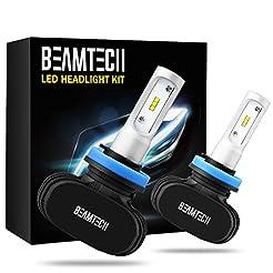 BEAMTECH H11 LED Headlight Bulb, 50W 650...
