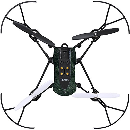(MightySkins Skin Compatible with Parrot Mambo Drone Quadcopter wrap Cover Sticker Skins Green Marble)