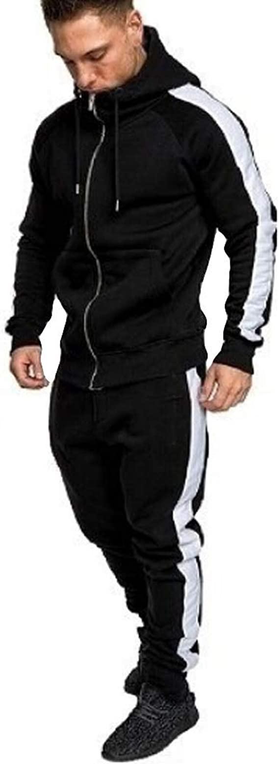 Champion Hooded Full Zip Suit Tracksuit Mens Fitness Tracksuit 214896