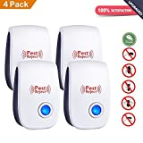 Ultrasonic Pest Control Repeller Plug-Repels Away Rodents, Mice, Cockroaches, Ants,Mosquito, Spiders Electronic Pest Repeller,4Pack