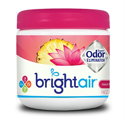 Bright Air 900114Bright Air Solid Air Freshener and Odor Eliminator, Island Nectar and Pineapple Scent, 14 Ounces