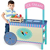 Wooden Wonders The Incredible Ice Cream Cart with 6 Free Cones by Imagination Generation