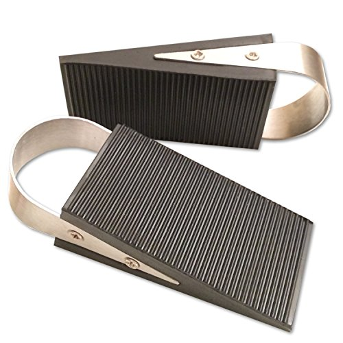 Price comparison product image Super Door Stop Rubber & Stainless Steel Wedge